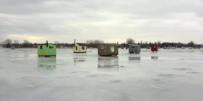Ice fishing huts