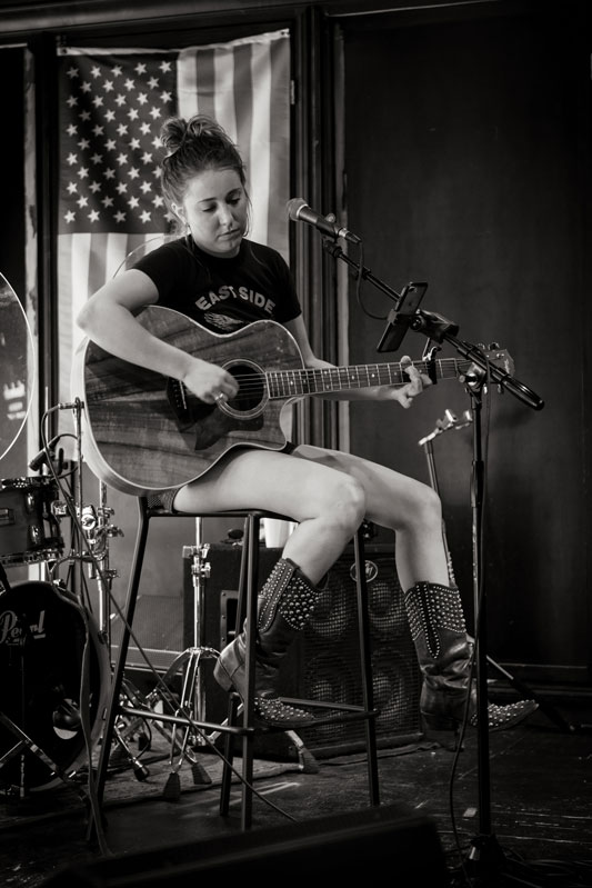Musician in cowboy boots